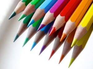 Multi couleur crayon